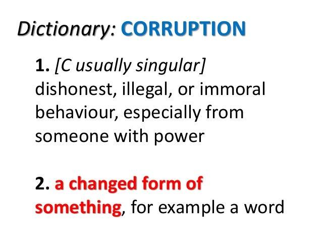 Corruption free leadership  Slide 2