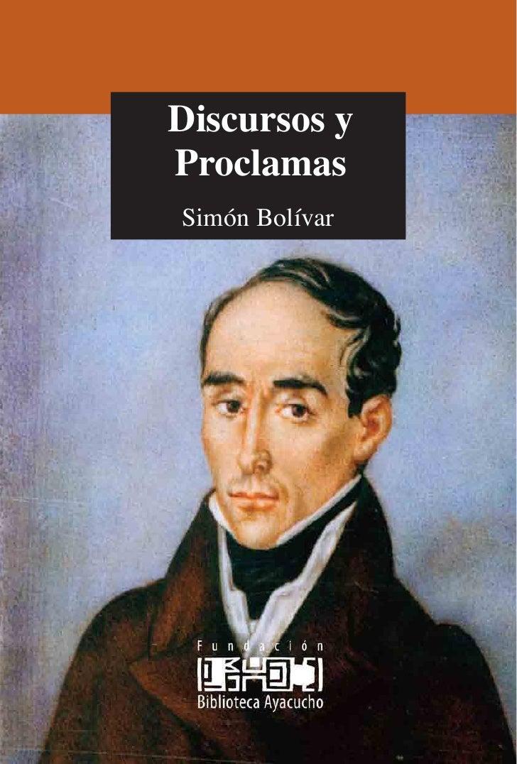 Discursos y Proclamas Simón Bolívar