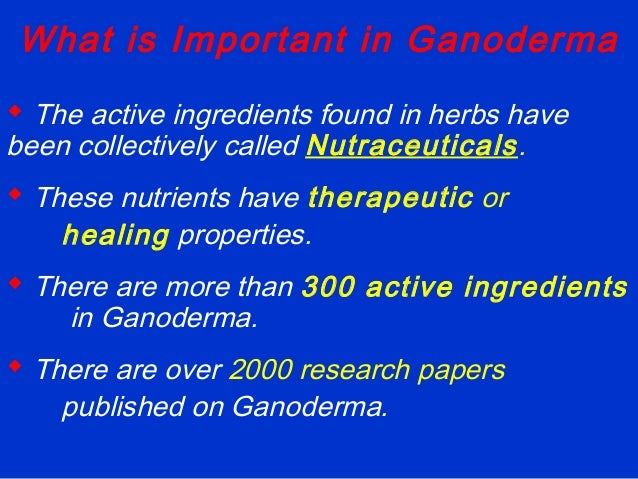 reishi ganoderma research papers The research studies on reishi mushroom extract suggest that it should be  considered in the good complementary management of a number of.
