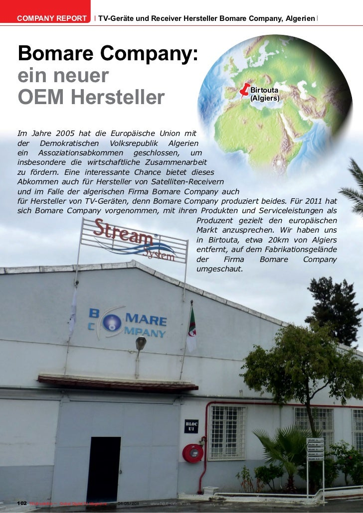 COMPANY REPORT                         TV-Geräte und Receiver Hersteller Bomare Company, AlgerienBomare Company:ein neuer ...