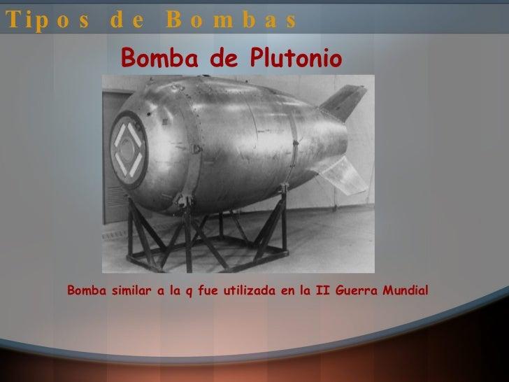 Tipos de bombas nucleares y sus nombres