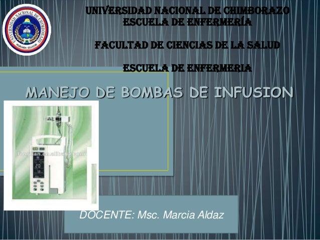 UNIVERSIDAD NACIONAL DE CHIMBORAZO ESCUELA DE ENFERMERÍA FACULTAD DE CIENCIAS DE LA SALUD ESCUELA DE ENFERMERIA MANEJO DE ...