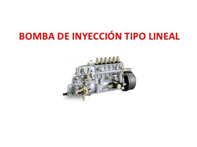 BOMBA DE INYECCIÓN TIPO LINEAL