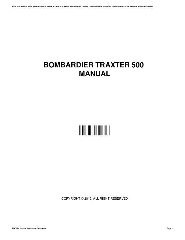 bombardier traxter 500 manual rh slideshare net bombardier traxter service manual download bombardier traxter shop manual