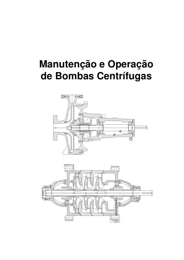 Manutenção e Operaçãode Bombas Centrífugas