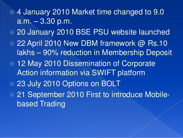Options trading in bse