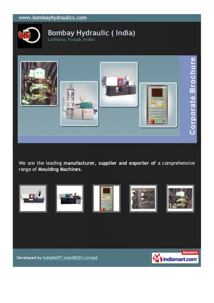 Bombay Hydraulic ( India)           Ludhiana, Punjab (India)We are the leading manufacturer, supplier and exporter of a co...