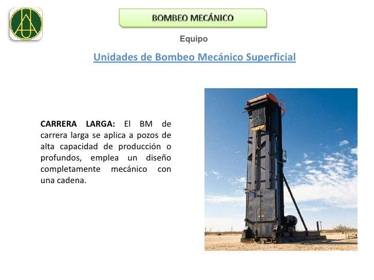 Bombeo mecanico. presentacion.