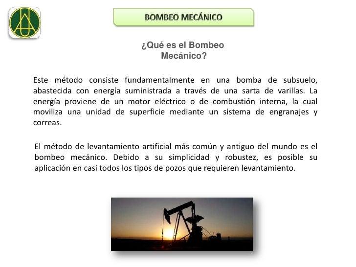 Bombeo mecanico. presentacion. Slide 3