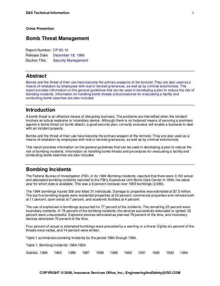 E&S Technical Information                                                                                         1Crime P...