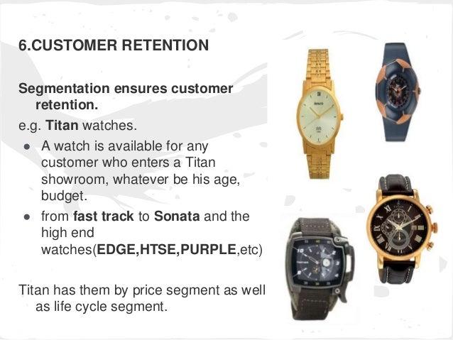 Market segmentation of titan watch