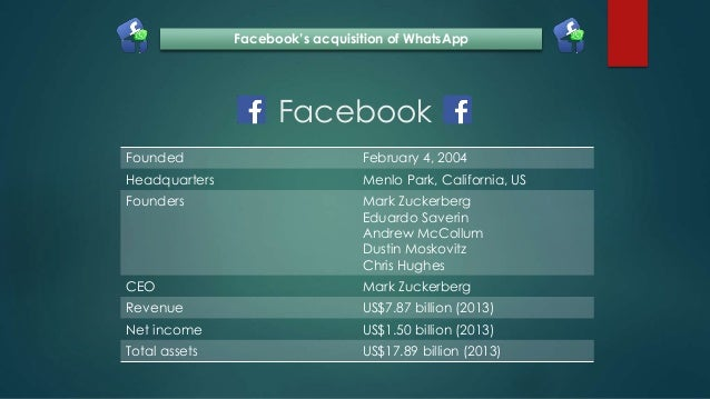 Facebook's acquisition of WhatsApp Slide 2