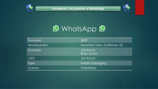 Facebook's acquisition of WhatsApp Slide 3