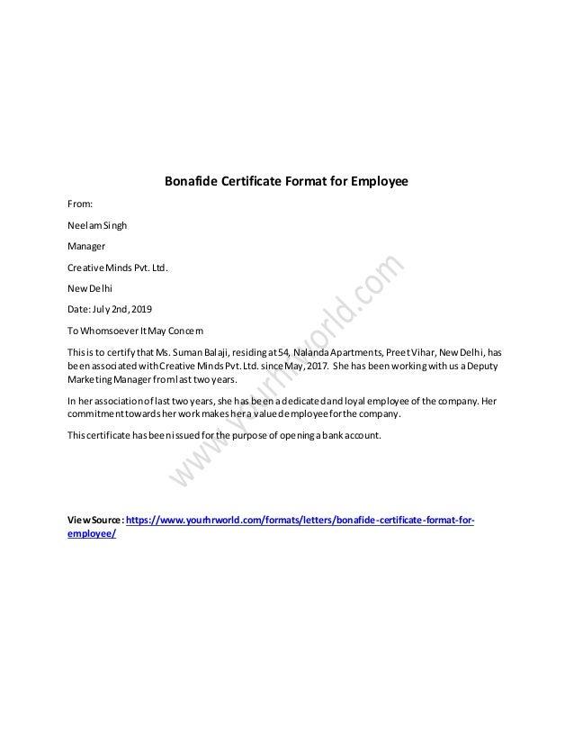Employment Letter Sample Doc from image.slidesharecdn.com