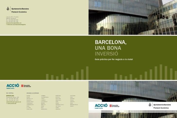 BIBLIOTECA DE CATALUNYA - DADES CIP    Barcelona, una bona inversió: guia pràctica per fer   negocis a la ciutat   I. Carr...