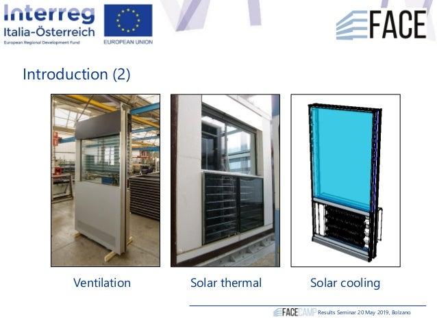 Introduction (2) Ventilation Solar thermal Solar cooling Results Seminar 20 May 2019, Bolzano