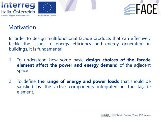 Motivation In order to design multifunctional façade products that can effectively tackle the issues of energy efficiency ...