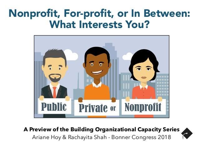 A Preview of the Building Organizational Capacity Series Ariane Hoy & Rachayita Shah - Bonner Congress 2018 Nonprofit, For-...