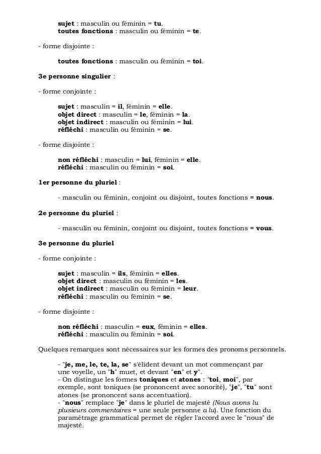 bon cours grammaire francaise les elements de la langue