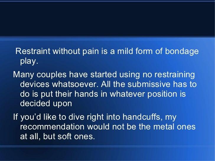 Bondage tips for couples