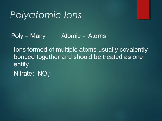 Ionic Compounds And Bonding