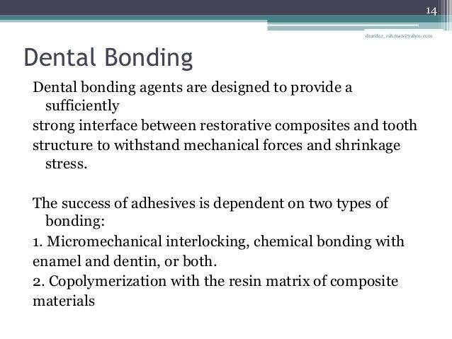 types of dental bonding agents Bonding and bonding agents