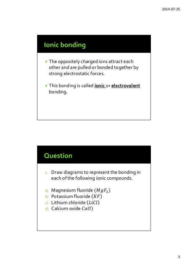 Bonding And Structure Powerpoint