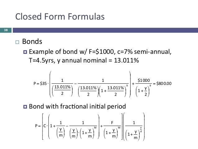 Bond price and yield pdf