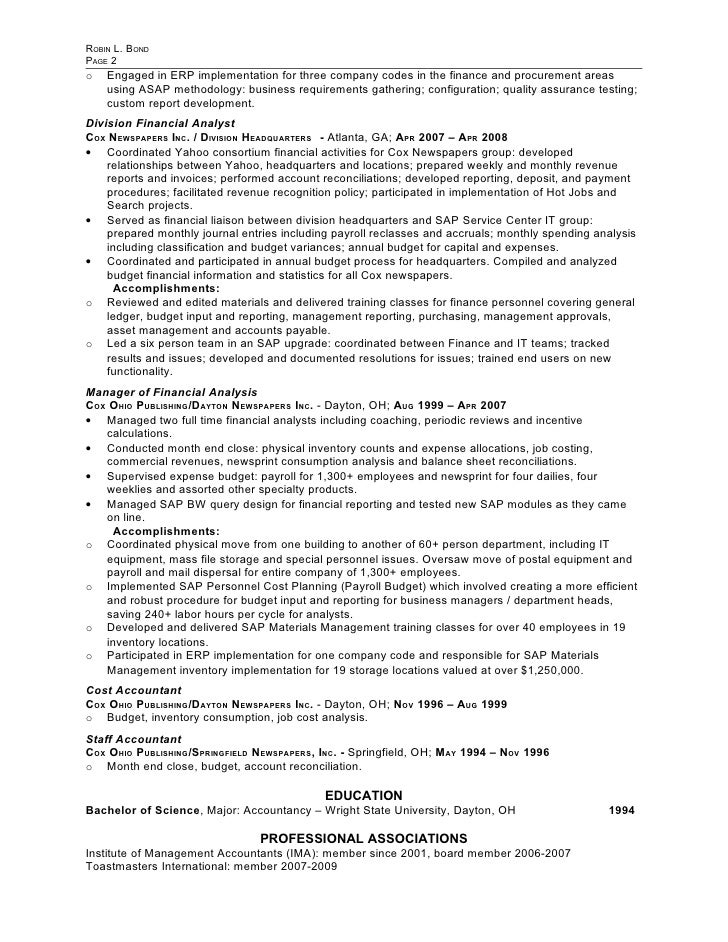 bond robin resume 40379w