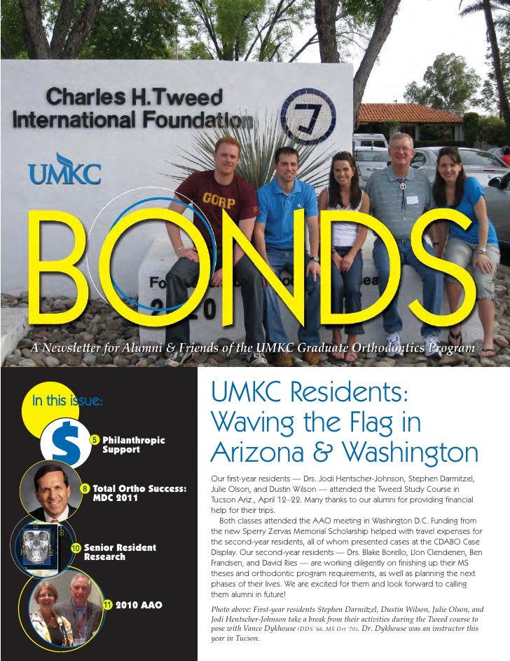 In this issue:                    UMKC Residents:                                  Waving the Flag in                     ...