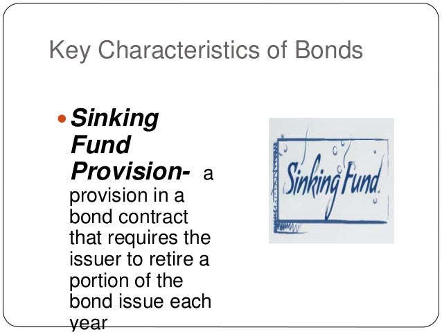 bonds and their characteristcs