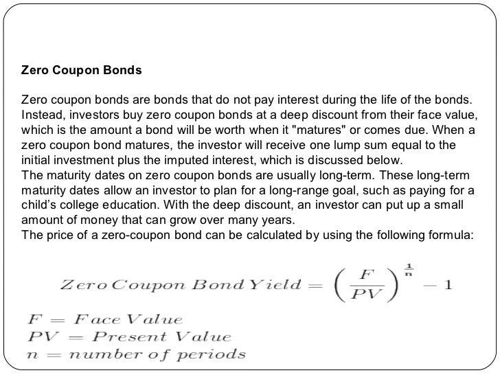 zero coupon securities definition