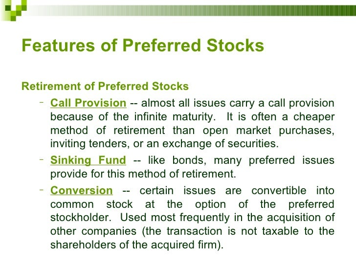 bonds versus preferred stock Preferred stock shares characteristics of both stocks and bonds, so they are a bit  of a unique investment choice which is right for you depends on your.
