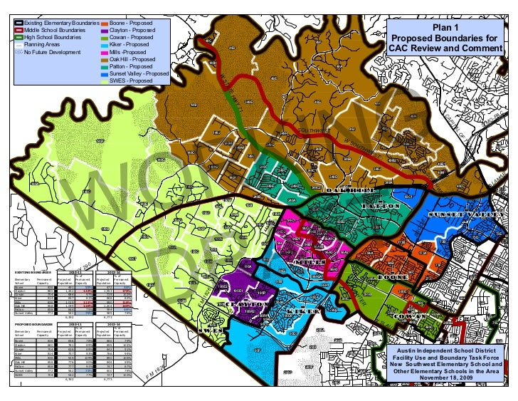 Existing Elementary Boundaries                      Boone - Proposed          Middle School Boundaries                    ...