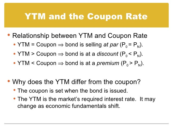 Discount bond coupon rate