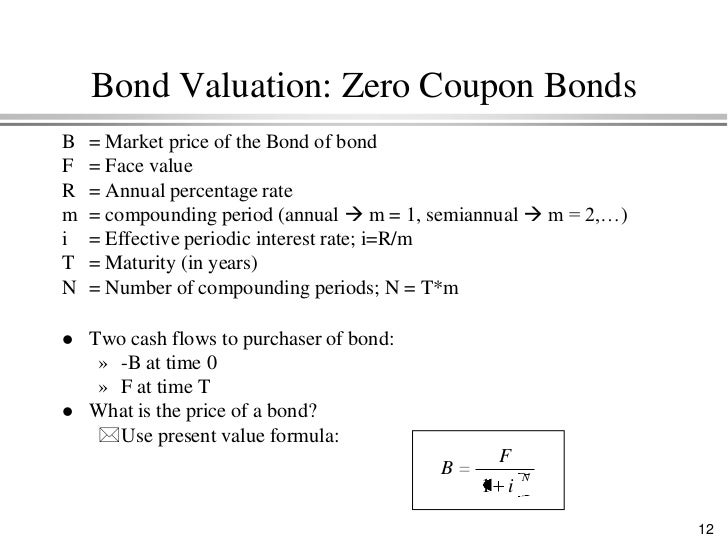 how do you calculate interest on a zero coupon bond