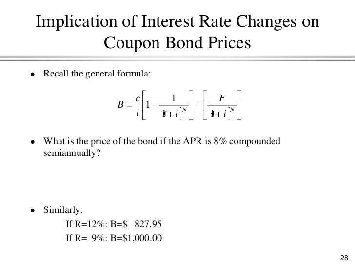 coupon rate changes