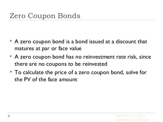 Zero coupon bonds accounting