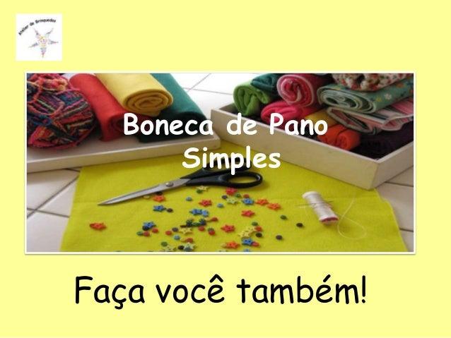 Boneca de Pano      SimplesFaça você também!