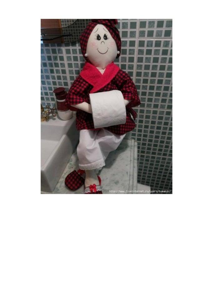 Bonecas detentores de papel higiênico