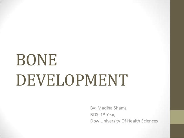 BONE DEVELOPMENT By: Madiha Shams BDS 1st Year, Dow University Of Health Sciences