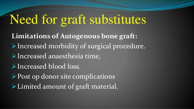 Bone graft substitutes presentation