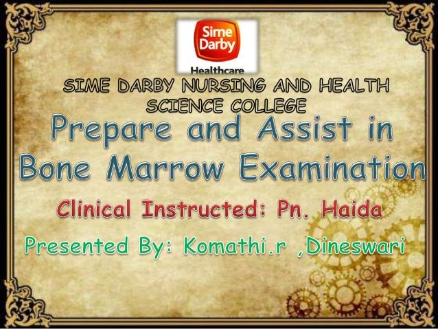 Is a procedure performed by the doctor where a special needle is inserted into the bone marrow to obtain bone marrow tissu...