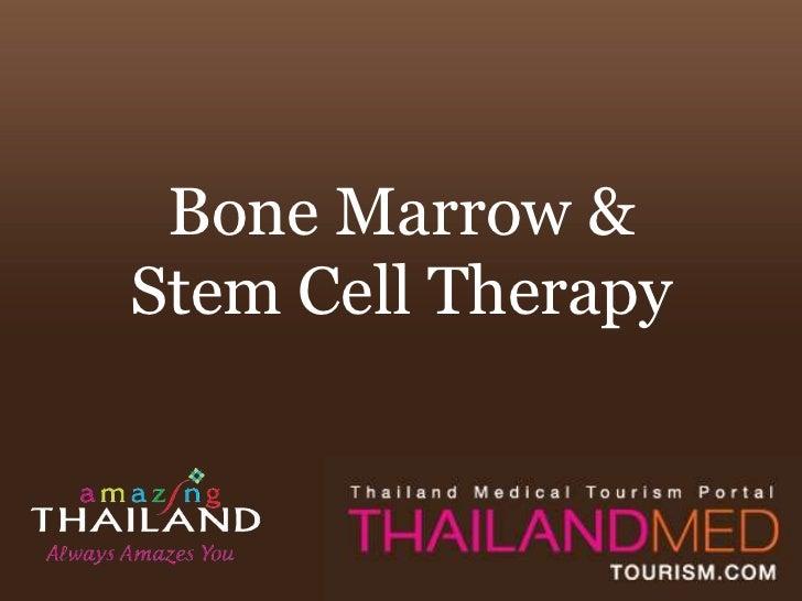 Bone Marrow &Stem Cell Therapy