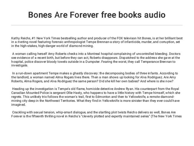 Bones Are Forever free books audio