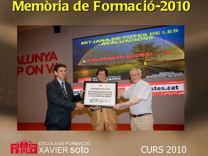 Memòria de Formació-2010