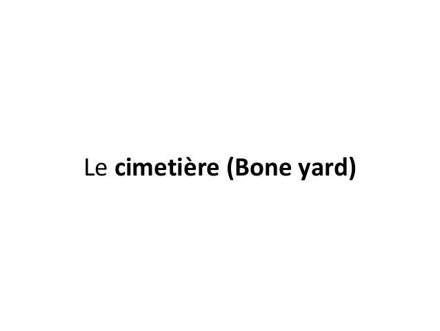 Lecimetière (Bone yard)