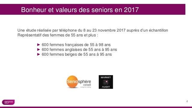 Bonheur et valeurs des seniors en 2017 Une étude réalisée par téléphone du 8 au 23 novembre 2017 auprès d'un échantillon R...