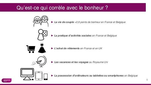 ► La vie de couple +0,9 points de bonheur en France et Belgique ► La pratique d'activités sociales en France et Belgique ►...