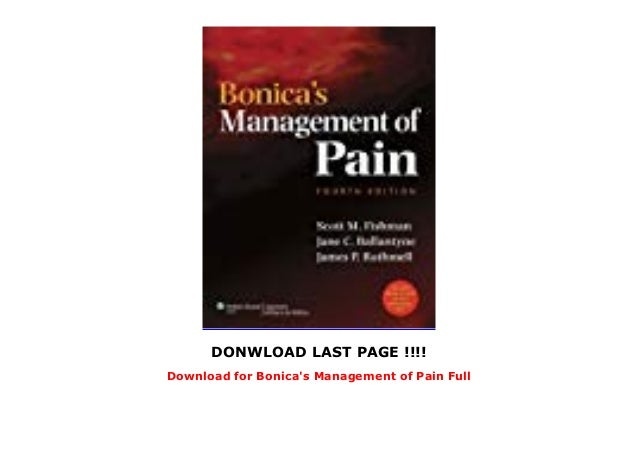 bonicas management of pain 4th edition free download